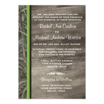 rustic camo wedding invitationss