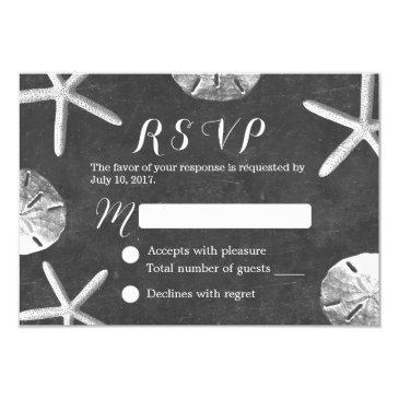 rustic chalkboard beach wedding rsvp