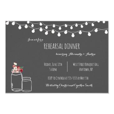 rustic chalkboard rehearsal dinner invitation