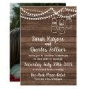 rustic charm mason jar string lights photo wedding invitations