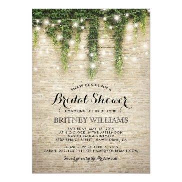 Small Rustic Chateau Stone Church Wedding Bridal Shower Invitationss Front View