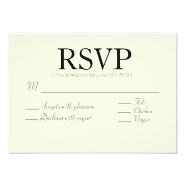 Small Rustic Chic | Arrow Custom | Rsvp Invitationss Front View