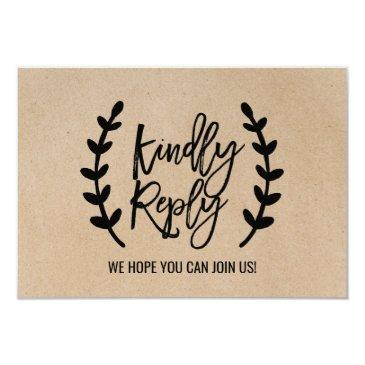 rustic chic faux kraft song request rsvp