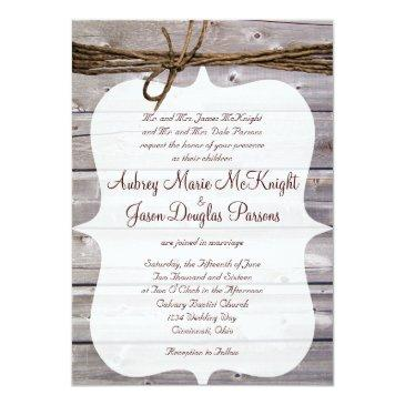 rustic country barn wood twine wedding