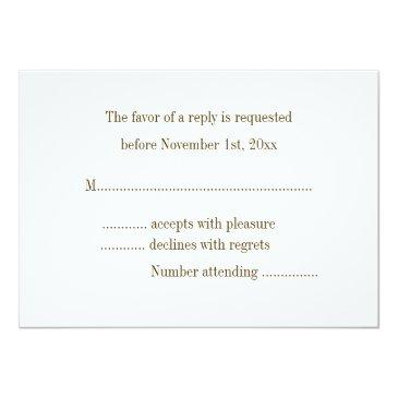 Small Rustic Country Buck And Doe Rsvp Announcement Back View