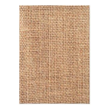 Small Rustic Country Burlap Lace Twine Wedding Invites Back View