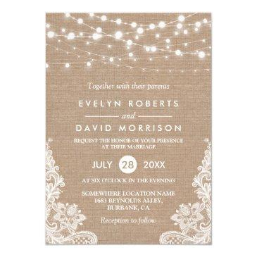 Custom rustic invitations for weddings