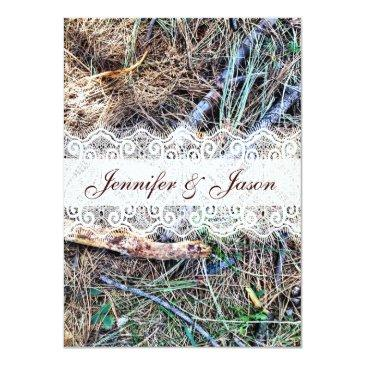 rustic country camo camouflage wedding