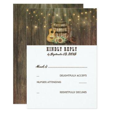 rustic country cowboy boots wedding rsvp