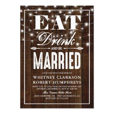 rustic country eat drink & be married wedding