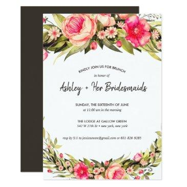 rustic country floral bridesmaid brunch