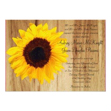 rustic country sunflower wedding invitationss