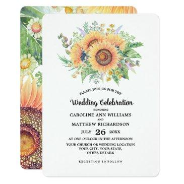 rustic country sunflowers wedding