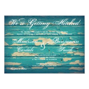 rustic country turquoise wood wedding