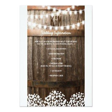 Small Rustic Country Wedding Details | String Of Lights Front View