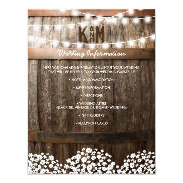 rustic country wedding details | string of lights