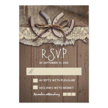 Small Rustic Country Wedding Rsvp Invitationss Front View