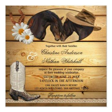 rustic country western horses wedding
