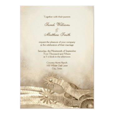 rustic country western wedding invitationss