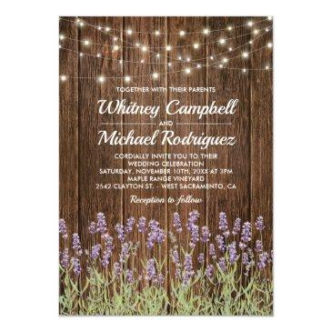 rustic country wood string lights floral wedding
