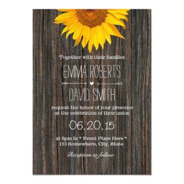 rustic dark wood background sunflower