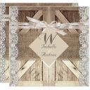 rustic door wedding lace wood burlap writing 2 invitation