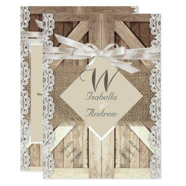ee36edea41bf Burlap And Lace Wedding Invitations - Up To 40% Off On Rustic ...