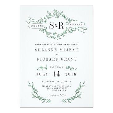 rustic elegant floral monogram wedding