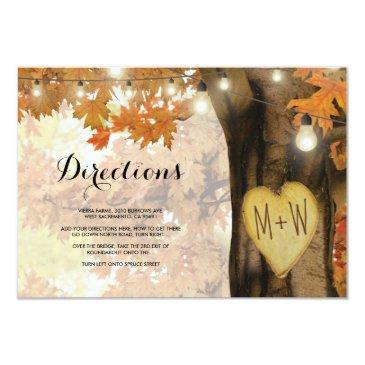 rustic fall autumn tree lights wedding directions