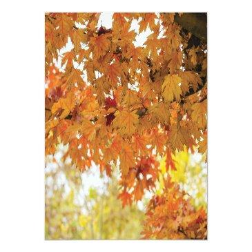 Small Rustic Fall Autumn Tree Lights Wedding Directions Invitationss Back View