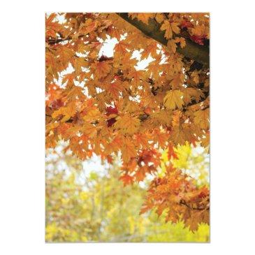 Small Rustic Fall Autumn Tree Twinkle Lights Wedding Back View