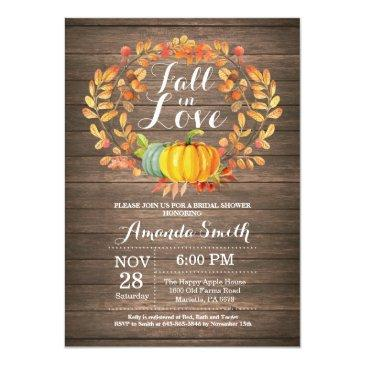 rustic fall bridal shower invitationss