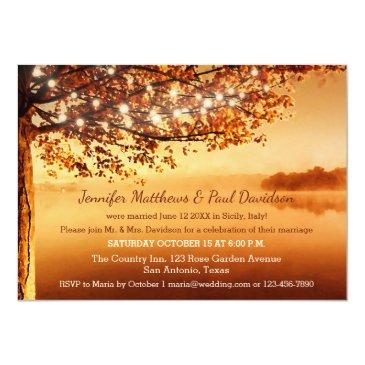Small Rustic Fall Elope Or Post Wedding Party Front View