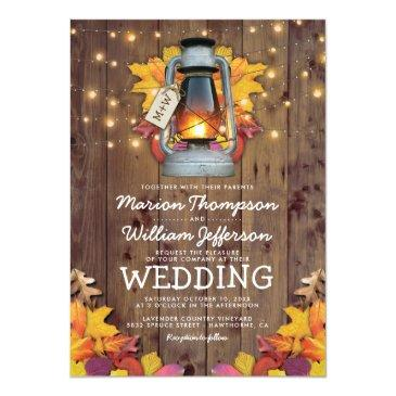 rustic fall string lights autumn leaves wedding