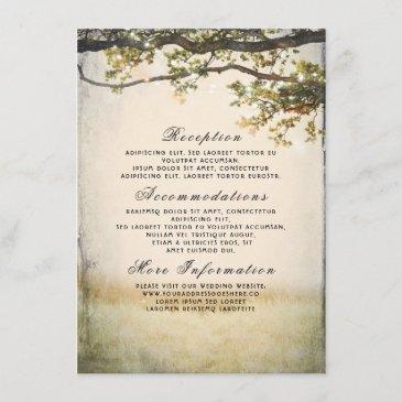 rustic fall tree branches wedding details enclosure