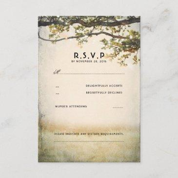 rustic fall tree branches wedding rsvp