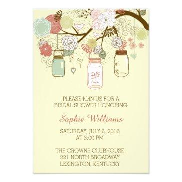 rustic floral and mason jar bridal shower