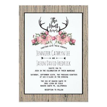 rustic floral barnwood hunt is over wedding
