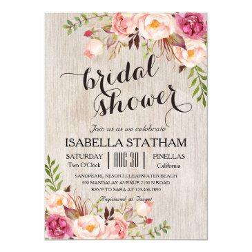 rustic floral bridal shower/watercolor bg