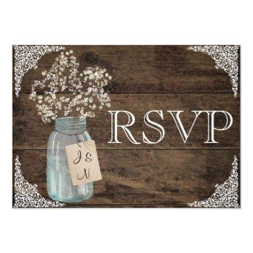 rustic floral country barn wedding rsvp