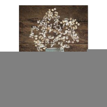 Small Rustic Floral Flower Country Mason Jar Wedding Back View
