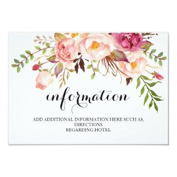rustic floral wedding information/details 2-side