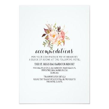 Small Rustic Floral Wedding Information/details 2-side Back View