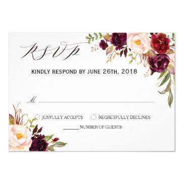rustic floral wedding rsvp