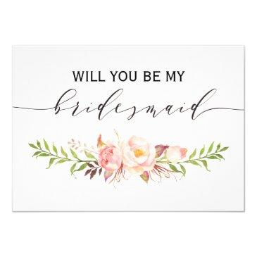 rustic floral will you be my bridesmaid | 2side-3