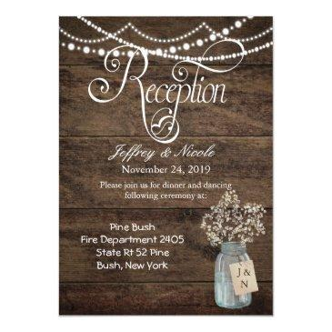 rustic flower country mason jar wedding reception