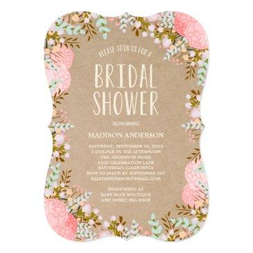 rustic flowers | bridal shower