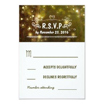 rustic forest enchanted wedding rsvp