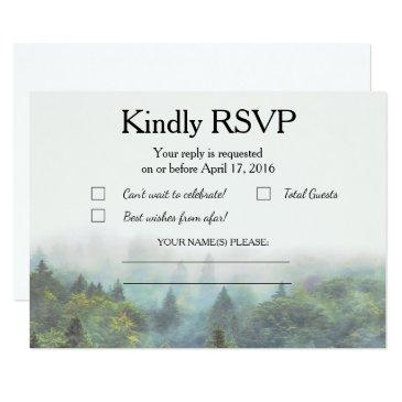 rustic forest wedding rsvp