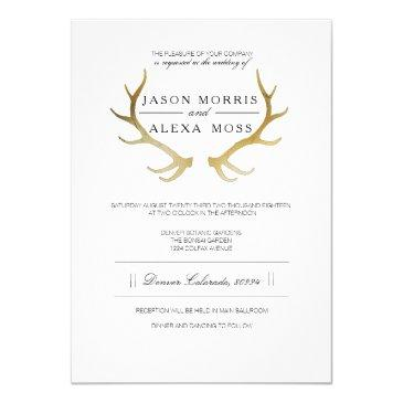 rustic gold antler | elegant wedding